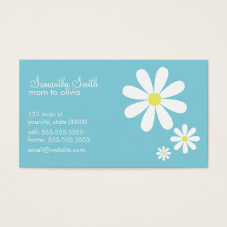 Daisies on Blue Business Card