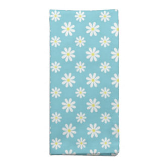 Daisies on Blue Pattern Napkin