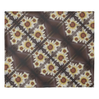 Daisies on brown duvet cover