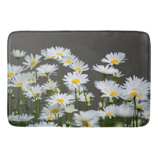 Daisies on Grey Bath Mat