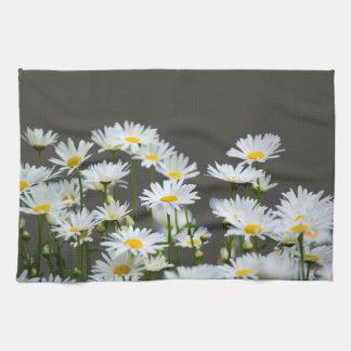 Daisies on Grey Kitchen Towel