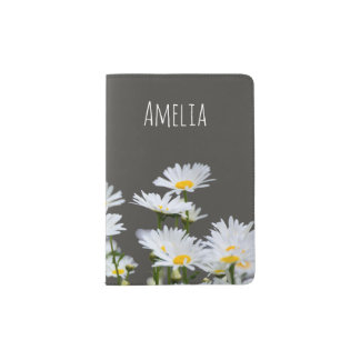 Daisies on Grey Passport Holder