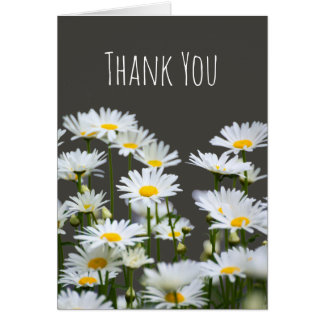 Daisies on Grey Thank You Card