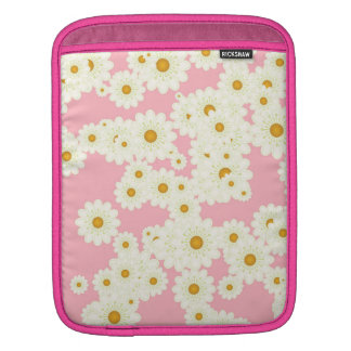 Daisies on pink iPad sleeve