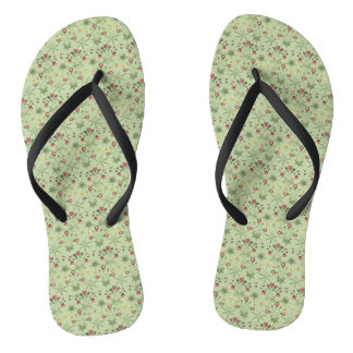 Daisies Over Mint Green Coordinates Flip Flops