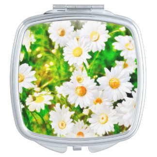 Daisies Travel Mirror