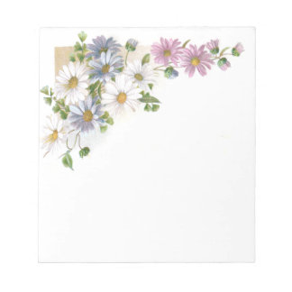 Daisies Victorian Trade Card Notepad