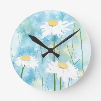 Daisies Watercolor Custom Clock