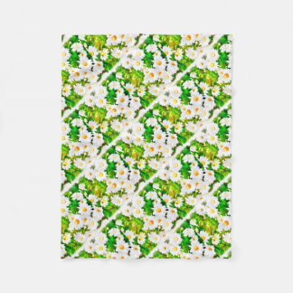 Daisies Watercolor Fleece Blanket