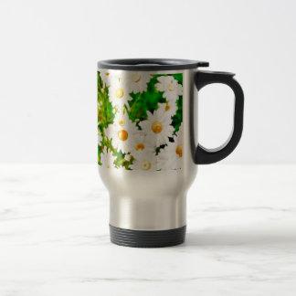 Daisies Watercolor Travel Mug