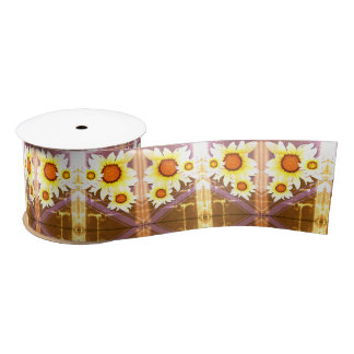 Daisies with aged look satin ribbon
