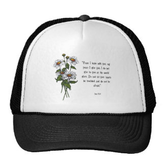 Daisies With Bible Verse: God's Peace Trucker Hat