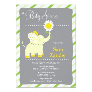 Daist Elephant    Girl Baby Shower Invitation