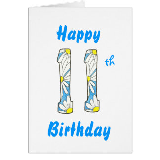 Daisy 11th Birthday Card
