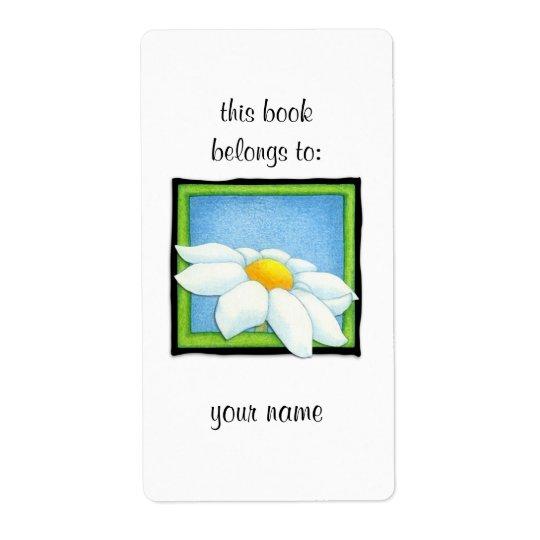 Daisy 2 Bookplate Label Shipping Label