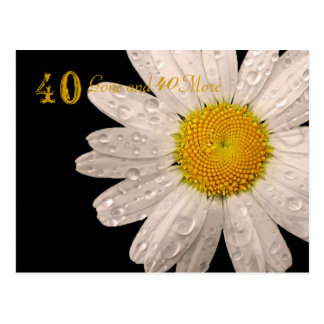"Daisy ""40 Gone and 40 More"" postcard Postcard"