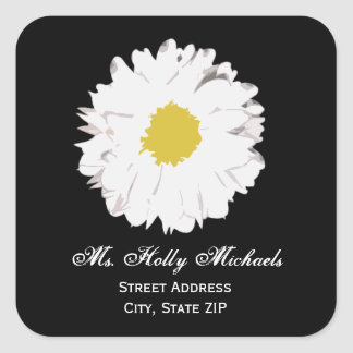 Daisy Address Label Sticker