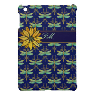 Daisy and Art Nouveau Dragonflies iPad Mini Cover