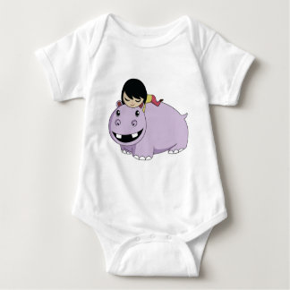 Daisy and Cookie the Hippo Baby Bodysuit