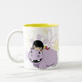 Daisy and Cookie Two-Tone Coffee Mug
