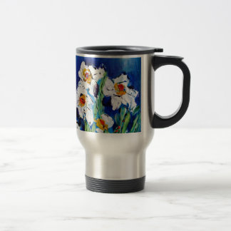 Daisy art - pixi -art.com travel mug