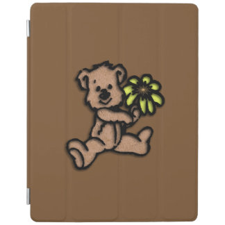 Daisy Bear Design Brown iPad Cover