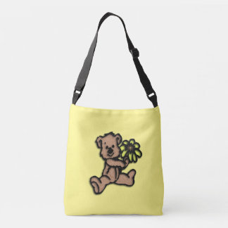 Daisy Bear Design Crossbody Bag