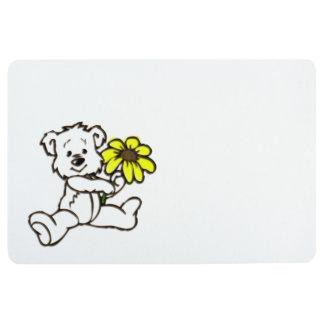 Daisy Bear Design Floor Mat