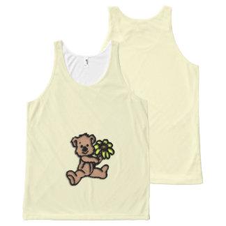 Daisy Bear Design Yellow All-Over-Print Tank Top
