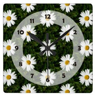 Daisy Bloom seamless pattern + your ideas Clock