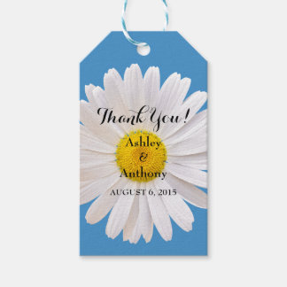 Daisy Blue White Wedding Thank You Favor Tag Pack Of Gift Tags