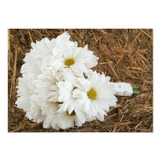 Daisy Bouquet & Hay - Country / Barn Wedding Card