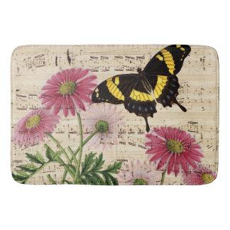 Daisy Butterfly Music Bath Mat