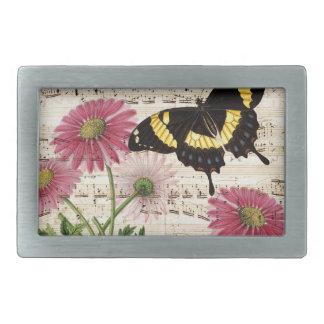 daisy Butterfly Music Belt Buckle