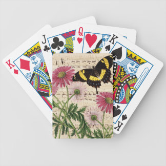 daisy Butterfly Music Bicycle Playing Cards