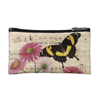 Daisy Butterfly Music Cosmetic Bag