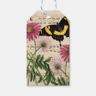 Daisy Butterfly Music Gift Tags