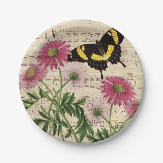 daisy Butterfly Music Paper Plate