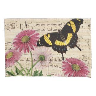 Daisy Butterfly Music Pillowcase