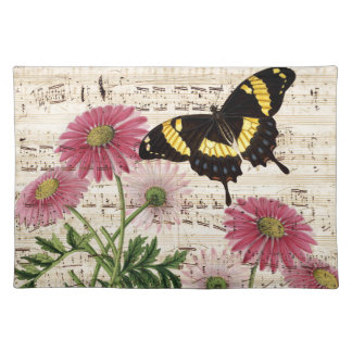 daisy Butterfly Music Placemat