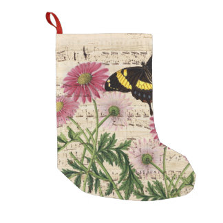 Daisy Butterfly Music Small Christmas Stocking