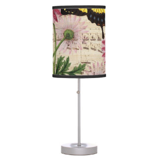 Daisy Butterfly Music Table Lamp