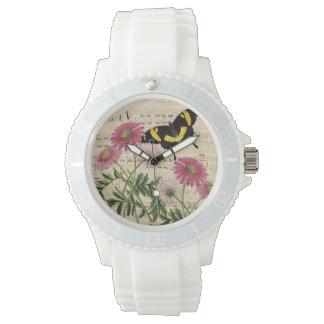 Daisy Butterfly Music Wrist Watch