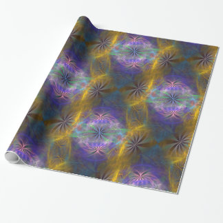 Daisy Chain Reaction Fractal. Wrapping Paper