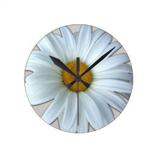 Daisy Clock Wildflower Daisies Flower Wall Clock
