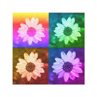Daisy Collage Canvas
