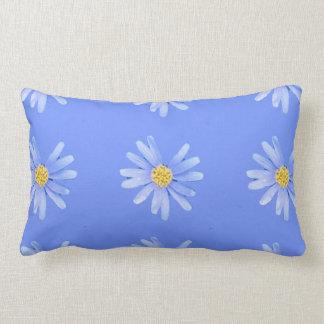 daisy cornflower lumbar pillow