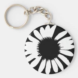Daisy Crazy - Black & White Daisy Keychain