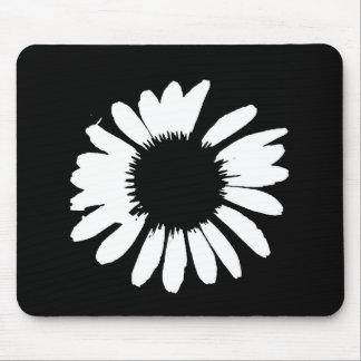 """""""Daisy Crazy"""" - Black & White Daisy Mouse Pad"""