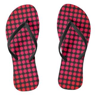 Daisy-Crazy_Red-Rose(C)Black_Multi-Styles Flip Flops